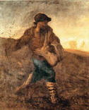 The Sower.  Painting by Millet