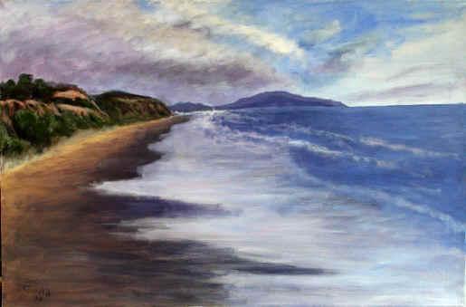 Blue Landscape Painting Landscape Painting--title