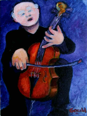 Figurative Painting--Title: Into The Music